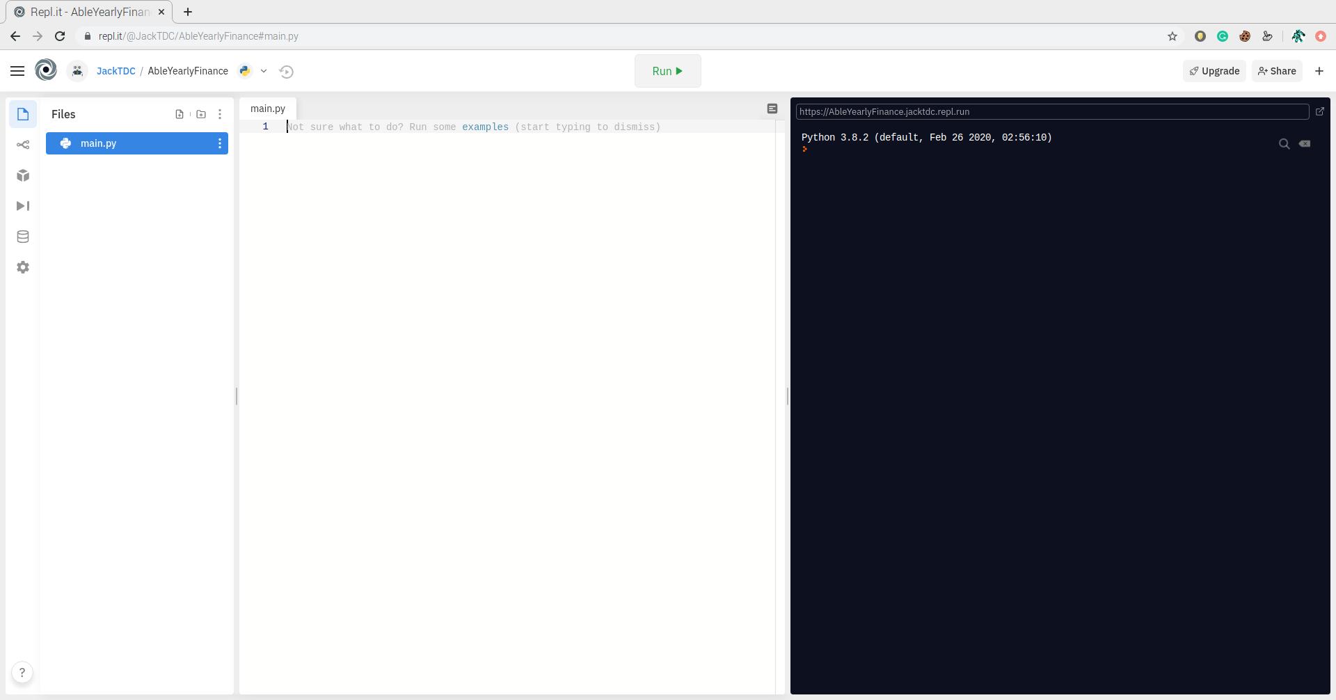 main.py file in Repl.it